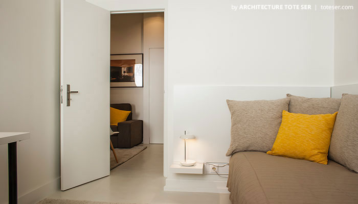 Bedroom of the 3 apartment in Chiado, Lisbon