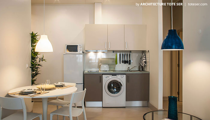 Kitchenette of the 1 bedroom apartment in Chiado, Lisbon
