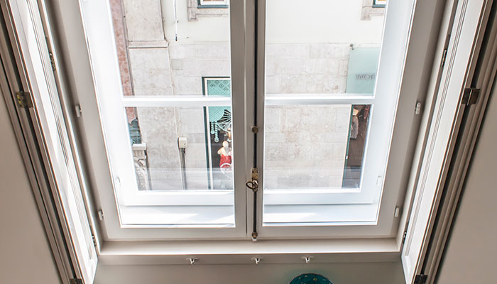 View of the 1 bedroom apartment with mezzanine in Chiado, Lisbon